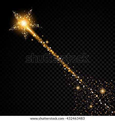 gold glittering star dust trail
