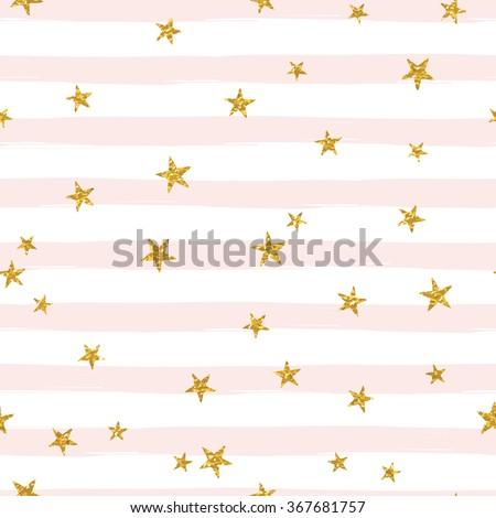 gold glittering stars confetti
