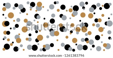 Gold golden polka dot point pattern Memphis style pois design Seamless shape Vector transparent fabric texture background banner Funny retro pop art 80 70 year style Circle buttons mark Christmas xmas Photo stock ©