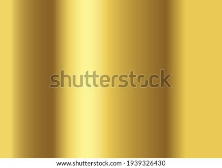 Gold gradient background vector icon texture metallic. Golden background vector illustration.