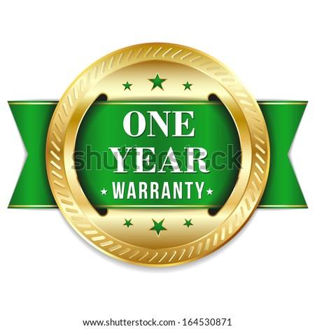 gold green one year warranty