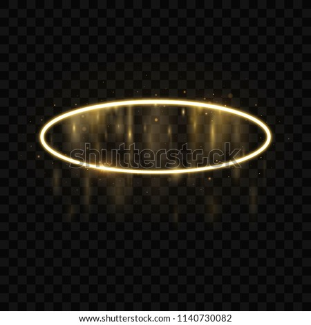 gold halo angel ring isolated