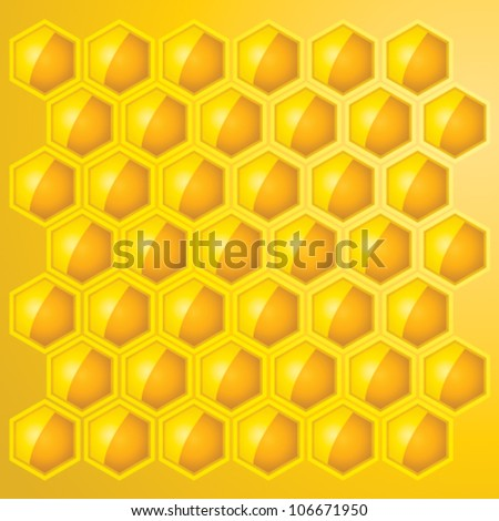Gold Honey Combs Vector Background