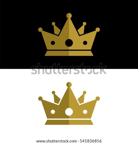 gold king crown logo template