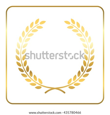 Vector Images Illustrations And Cliparts Gold Laurel Wreath