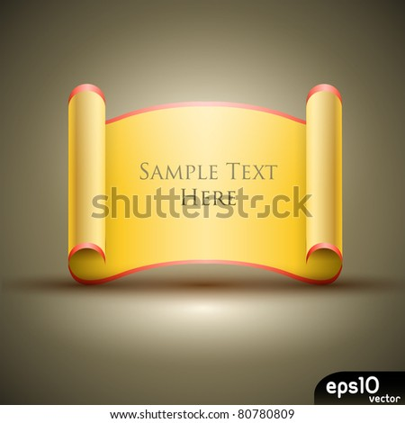 Gold manuscript - stock vector