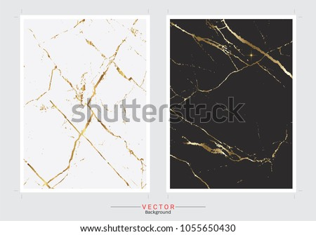 Gold marble cover background, Vector set template, Fully editable color change, Premium and luxury texture for design a stunning wedding, invitation, greeting cards, web banner, pattern, wallpaper.