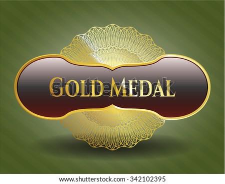 Gold Medal gold shiny badge