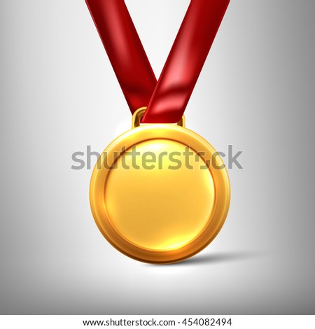 Gold medal isolated on a grey background.Vector illustration eps 10 Stockfoto ©