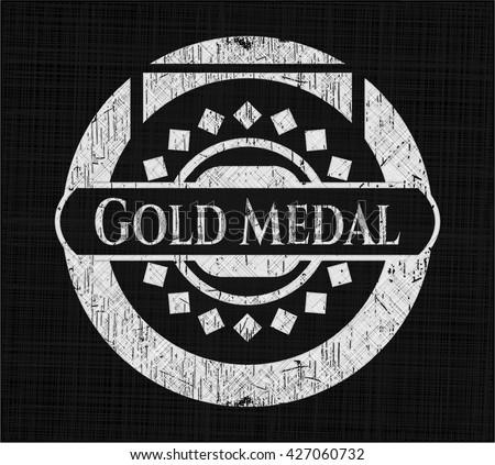Gold Medal on chalkboard
