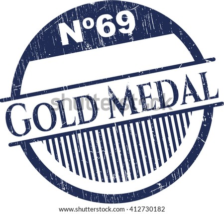 Gold Medal rubber grunge texture seal