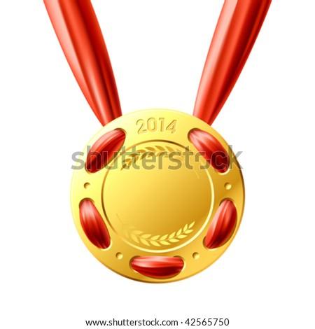 Gold medal. Vector.