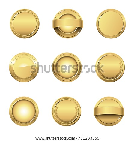 Gold Medals - Collection of vector gold medals awards