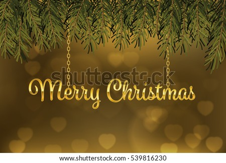 gold merry christmas background - Shutterstock ID 539816230