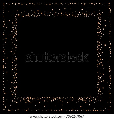 gold metallic glitter of confetti on a black background luxury new year vector background