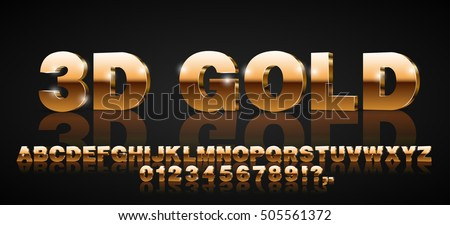 gold metallic style 3d vector