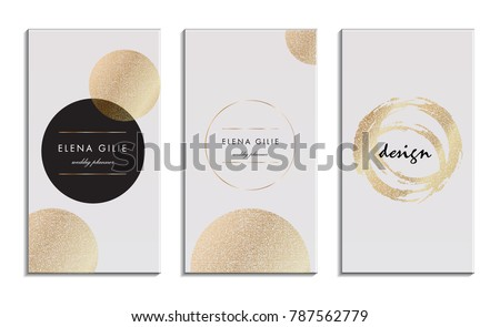 Gold metallic textured cards
