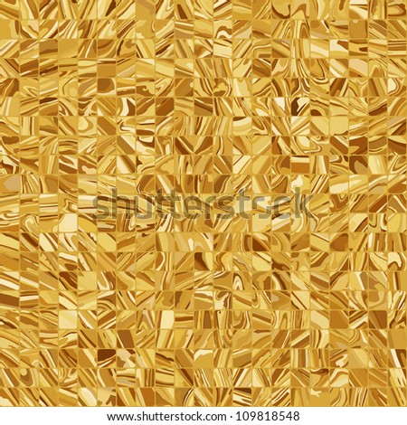 Gold mosaic background. EPS 8 vector file included