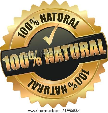 gold 100  natural sign