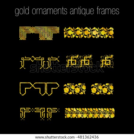 Gold Ornaments Antiques Frames