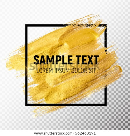 Gold Paint Glittering Textured Art. Vector Illustration EPS10