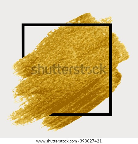 gold paint in black square