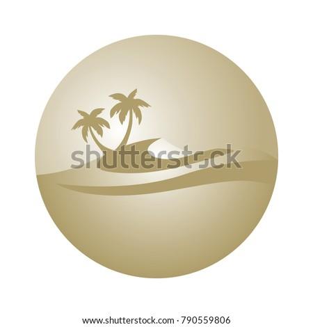 gold palm tree dune logo