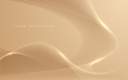 Gold pastel lines abstract bckground