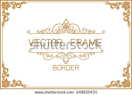 Vector Floral Frames, Borders & Corners - Download Free Vector Art ...