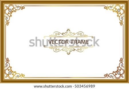 Vector Images, Illustrations and Cliparts: Gold photo frames with ...