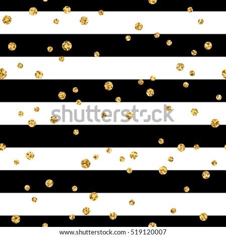 gold polka dot on lines