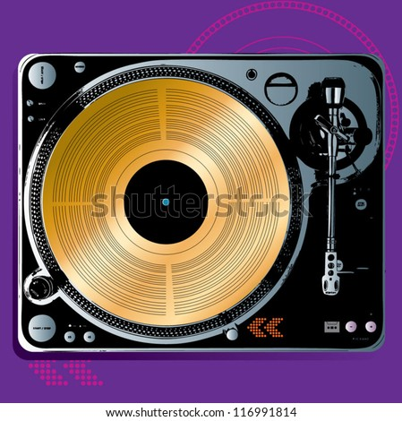 Gold Record on Turntable