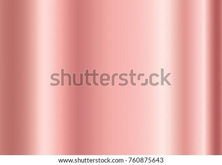 Gold rose foil texture background. Vector golden shine metallic gradient pattern. Decorative template for gold pink border, frame, ribbon, label design.