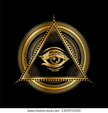 gold sacred geometry with all