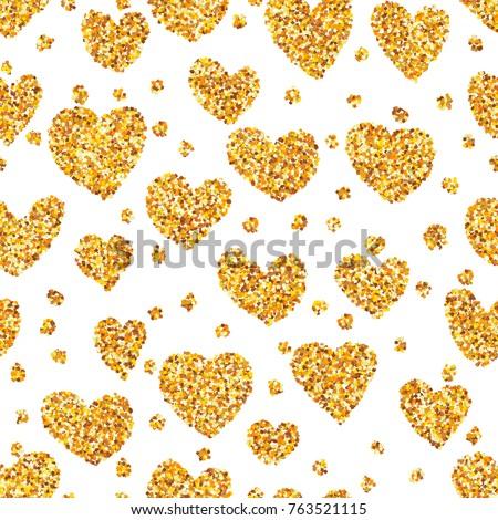 gold sand on heart shape