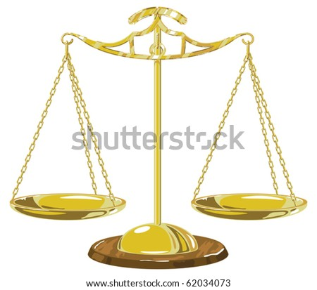 Gold scale. Vector image.