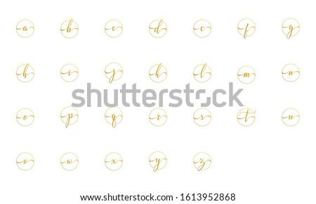 gold set logo letter for branding and identity. elegant lettermark logo. Photo stock ©