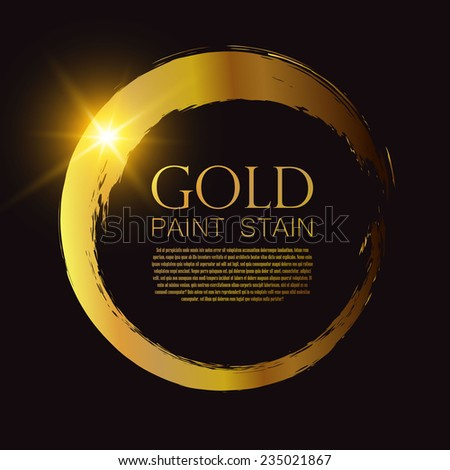 Gold shining paint stains. Vector illustration Stock foto ©