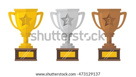 gold  silver and bronze trophy