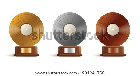 gold  silver and bronze vinyl