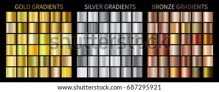 gold  silver  bronze gradients