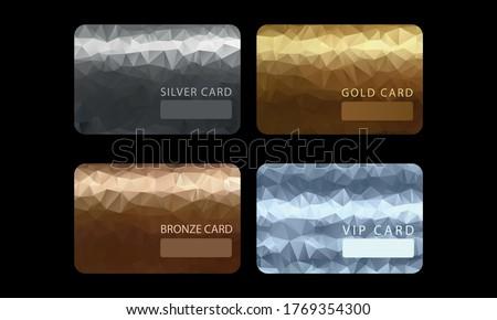 Gold, silver, bronze, VIP premium member cards Photo stock ©