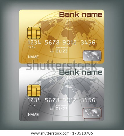 gold silver credit card or