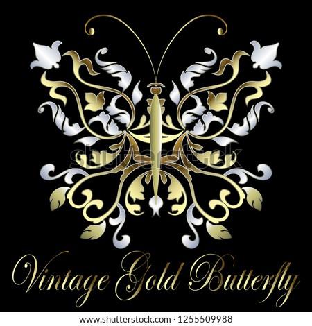 gold silver vintage ornamental
