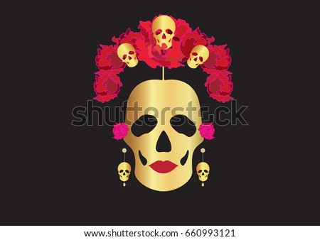 gold skulls  portrait of