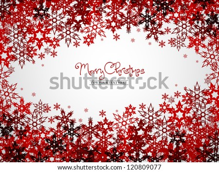 Gold snowflakes - Merry Christmas concept - vector background #120809077
