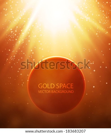 gold space background