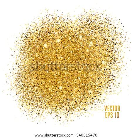 gold sparkles on white