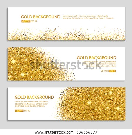 gold sparkles on white