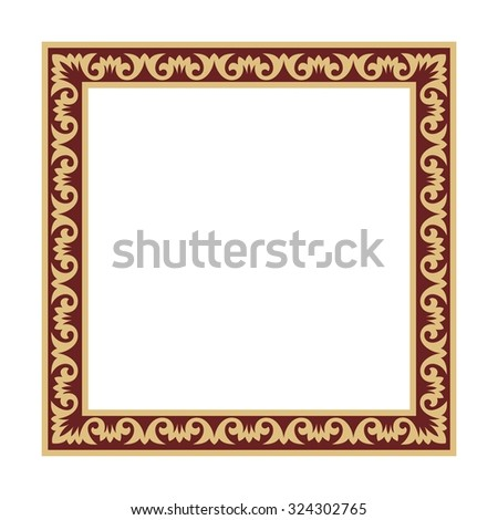 gold square frame with italian